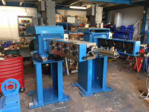 Refurbished extruders
